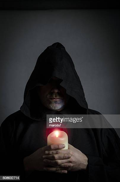 Head shot of a black monk