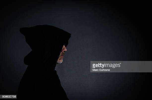 Kopf Schuss von einem schwarzen Mönch