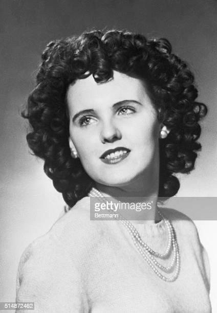 Head shot of aspiring actress Elizabeth Short, a murder victim nicknamed the Black Dahlia