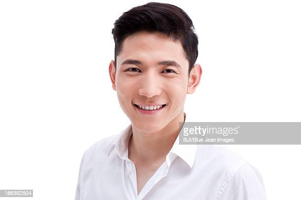 Head shot of happy young man