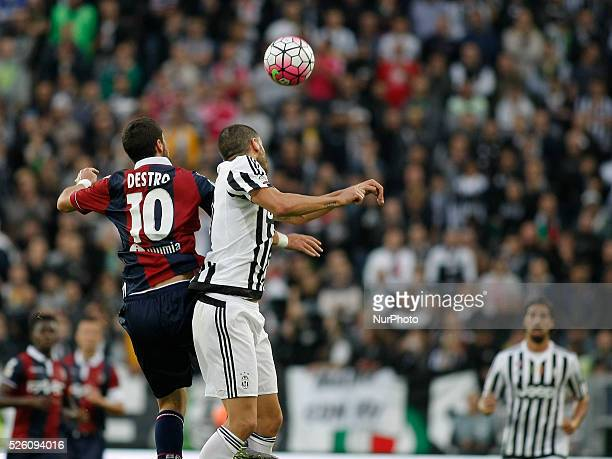 Head shot of leonardo bonucci during the seria A match between juventus fc and bologna fc at the juventus stadium of turin on october 04, 2015 in...