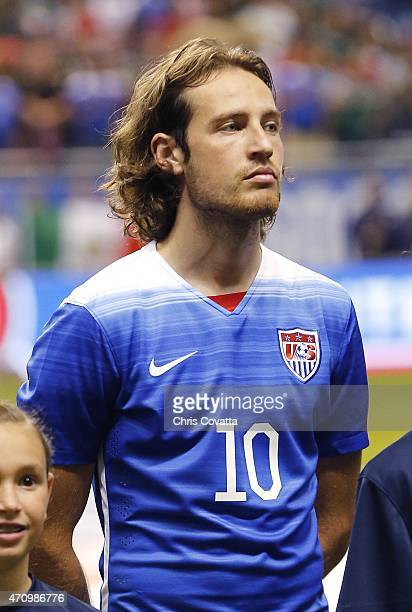 A head shot of Mix Diskerud of the United States before the international match with Mexico at the Alamodome on April 15 2015 in San Antonio Texas