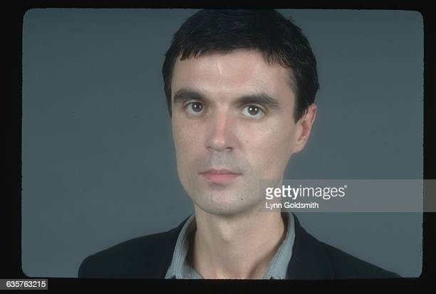 1980 A head shot of musician David Byrne singer for the pop band The Talking Heads