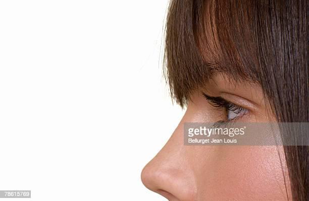 Head shot of teenage girl