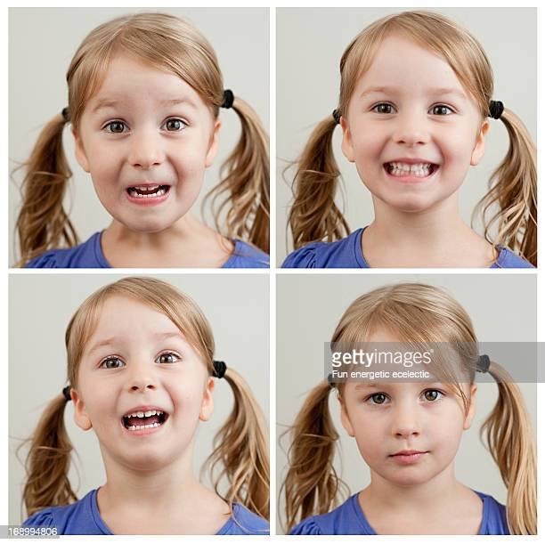 4 head shots of toddler