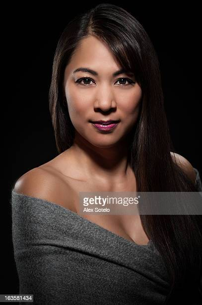 head & shoulder portrait of female - beautiful filipino women stock photos and pictures