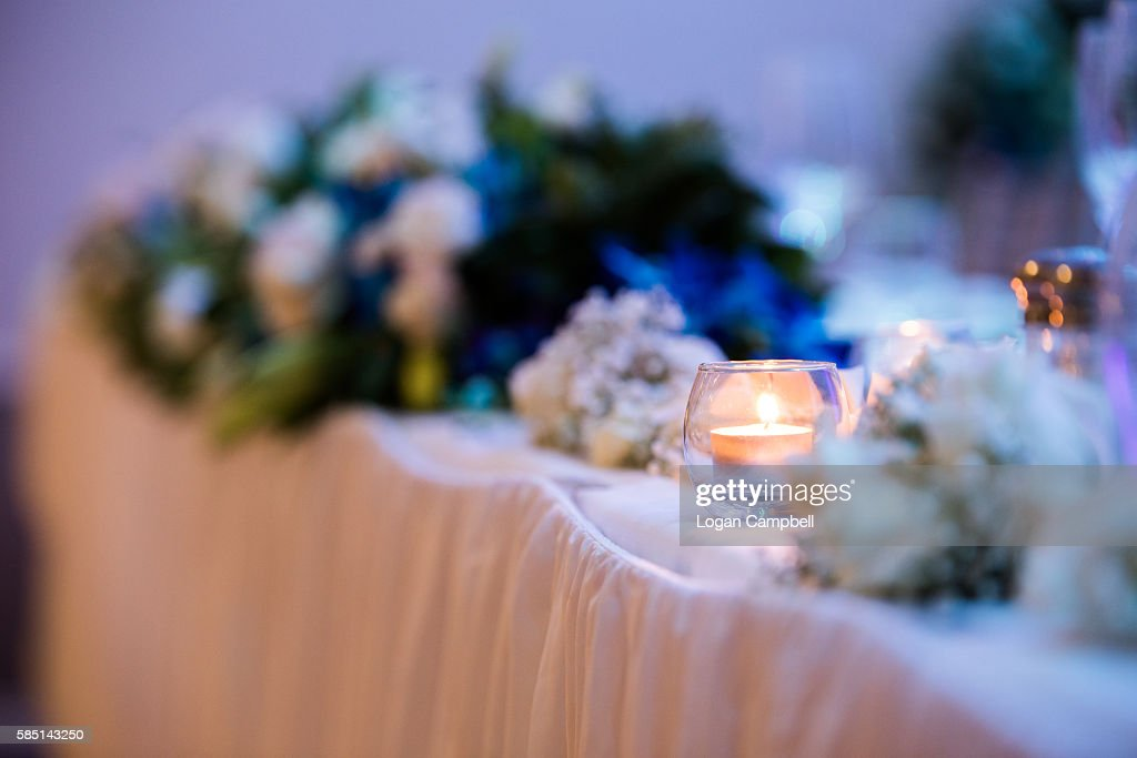 Head Table At Wedding Reception Stock Photo Getty Images