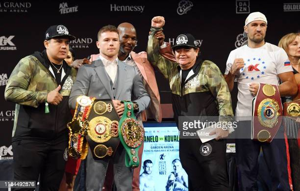 Head trainer and co-manager for Canelo Alvarez Eddy Reynoso, boxer Canelo Alvarez, Golden Boy Promotions partner Bernard Hopkins, Alvarez's trainer...
