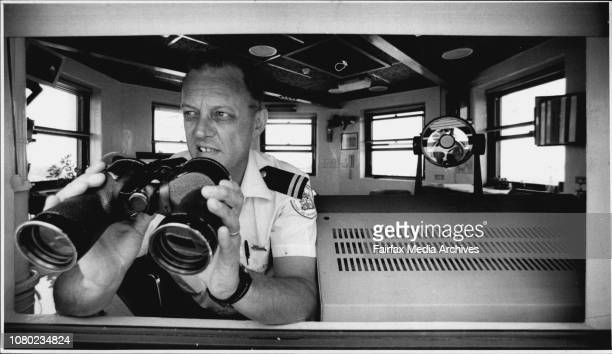 Head turning Signalman Andy Mills monitors ships through the Heads from the 200yearsold South Head Signal StationIn the tower from which Australia's...