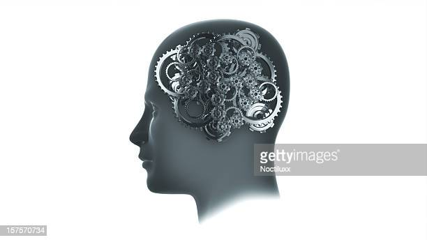 Head with gears and cogs
