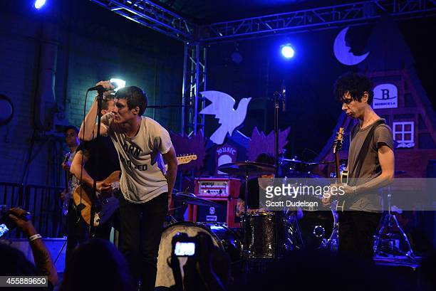 Head Wound City featuring Nick Zinner of Yeah Yeah Yeahs and Jordan Blilie of The Blood Brothers perform onstage at BEDROCKtoberfest on September 20...