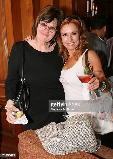 Head writer Lynn Marie Latham and actress Tracey E Bregman of the television show The Young and the Restless pose at the 2006 Summer Television...