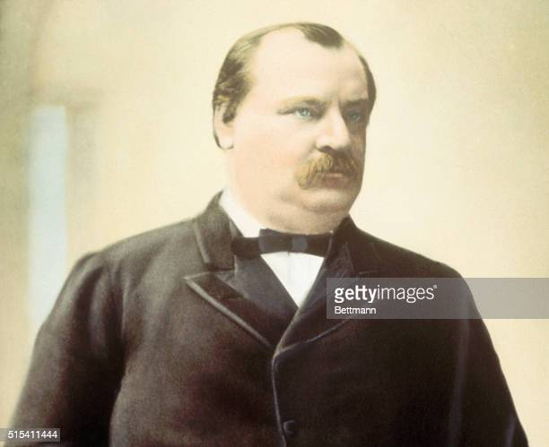 Headandshoulders portrait of President Grover Cleveland Undated handcolored photograph