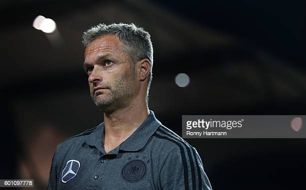 Headcoach Christian Wueck of Germany is pictured during the Under 17 four nations tournament match between U17 Germany and U17 Netherlands at...