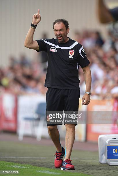 Headcoach ClausDieter Wollitz of FC Energie Cottbus during the test match between FC Energie Cottbus and 1 FC Union Berlin on July 23 2016 in Cottbus...