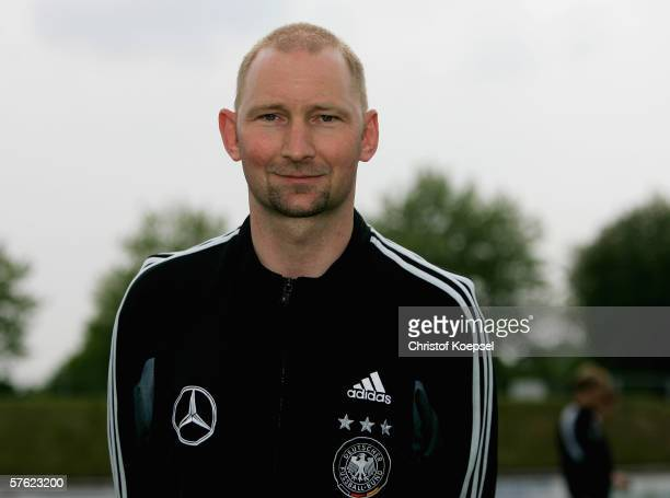 Headcoach Dieter Eilts is seen during the Under 21 German National Team photo call on May 16 2006 in Kleve near Bocholt Germany