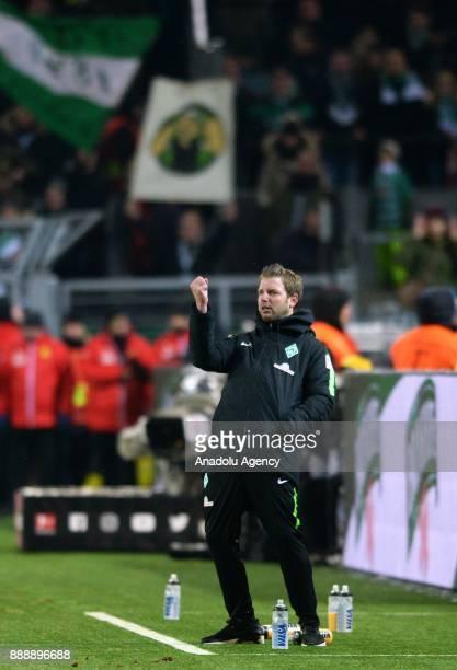 Headcoach Florian Kohfeldt of Bremen reacts during Bundesliga soccer match between Borussia Dortmund and Werder Bremen at the SignalIduna Park in...