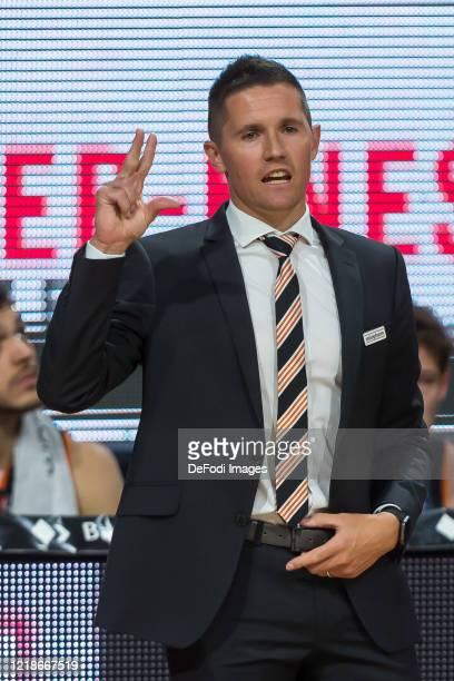 Headcoach Jaka Lakovic of Ratiopharm Ulm gestures during the EasyCredit Basketball Bundesliga match between Ratiopharm Ulm and EWE Baskets Oldenburg...