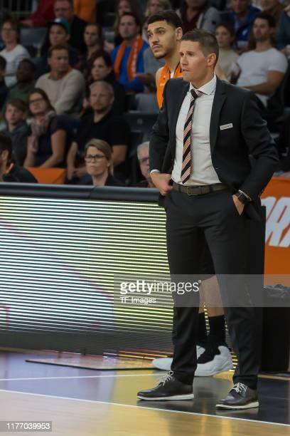 Headcoach Jaka Lakovic of Ratiopharm Ulm looks on during the EuroCup match between Ratiopharm Ulm and Promitheas Patras at ratiopharm Arena on...