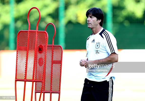 Headcoach Joachim Loew of Germany during a training session on September 04, 2012 in Barsinghausen, Germany, three days before their FIFA World Cup...