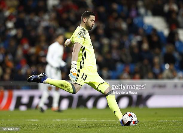 Headcoach Kiko Casilla of Real Madrid in actions during the Copa del Rey quarterfinal first leg match between Real Madrid CF and Celta de Vigo at...