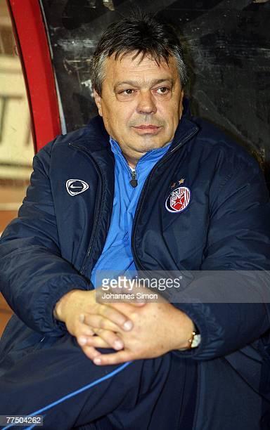 Headcoach Milorad Kosanovic of Belgrade looks on prior to the UEFA Cup group F match between Crvena Zvezda and Bayern Munich at Crvena Zvezda Stadium...