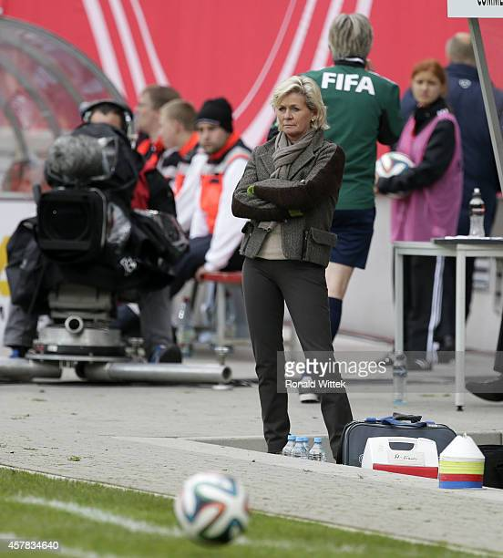 Headcoach of Germany Silvia Neid reacts during the International Friendly match between Germany and France at SpardaBankHessenStadion on October 25...
