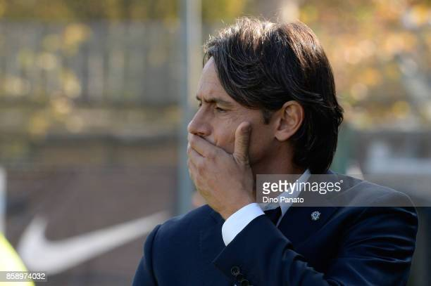 Headcoach of Venezia Filippo Inzaghi looks on during the Serie B match between Venezia FC and FC Carpi at Stadio Pier Luigi Penzo on October 8 2017...