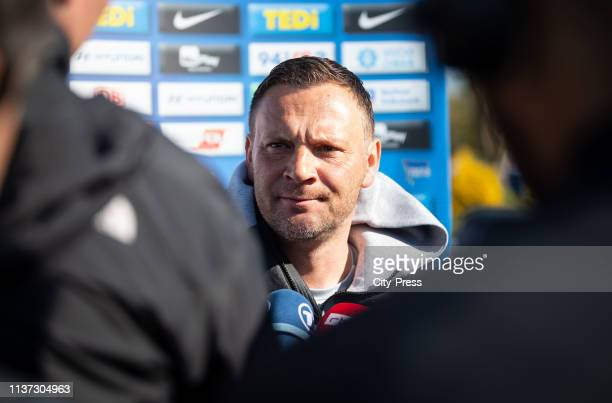 Headcoach Pal Dardai during the Hertha BSC training session on april 15 2019 in Berlin Germany