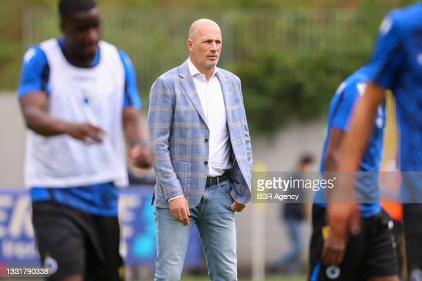 Headcoach Phillipe Clement of Club Brugge during the Jupiler Pro League match between Union Saint Gilloise and Club Brugge at Joseph Marien Stadion...