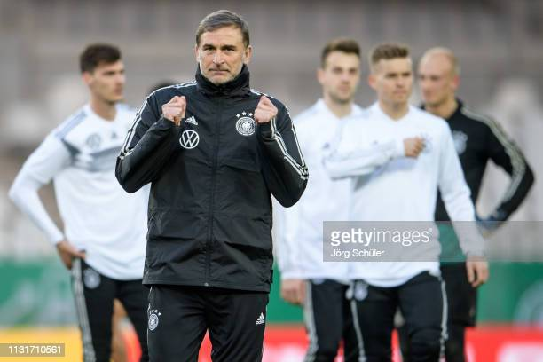 Headcoach Stefan Kuntz during the U21 training session of Germany at Stadion Essen on March 20, 2019 in Essen, Germany.