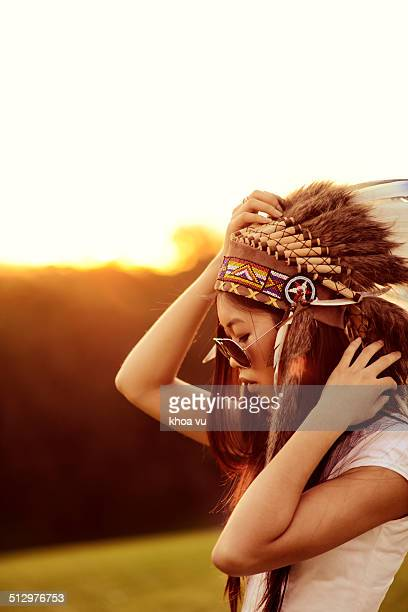 Headdress and aviators