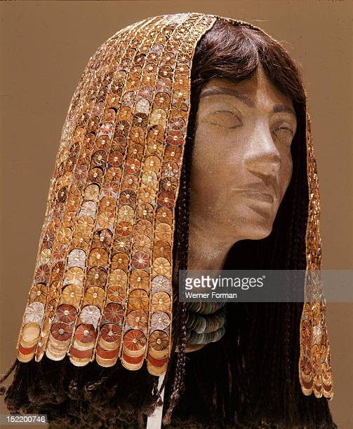 A headdress of a queen or lady of the court of Thutmose III from the tomb of his Syrian wife Each small unit is joined by a hinge making it flexible...