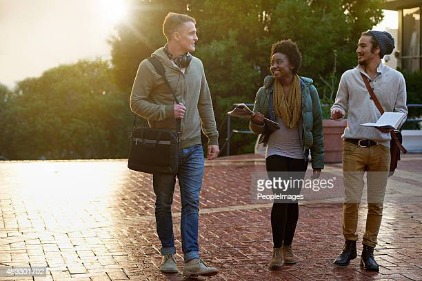 headed into college for the day - clique stock photos and pictures