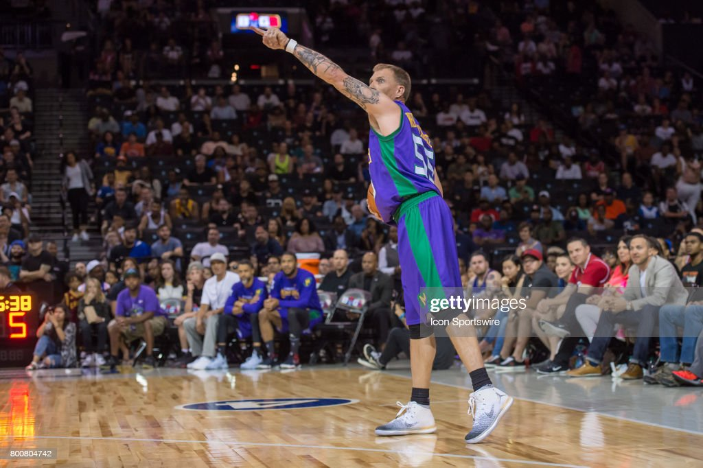 3 Headed Monsters player Jason Williams (55) runs the offense during a BIG3 Basketball League game on June 25, 2017 at Barclays Center in Brooklyn, NY