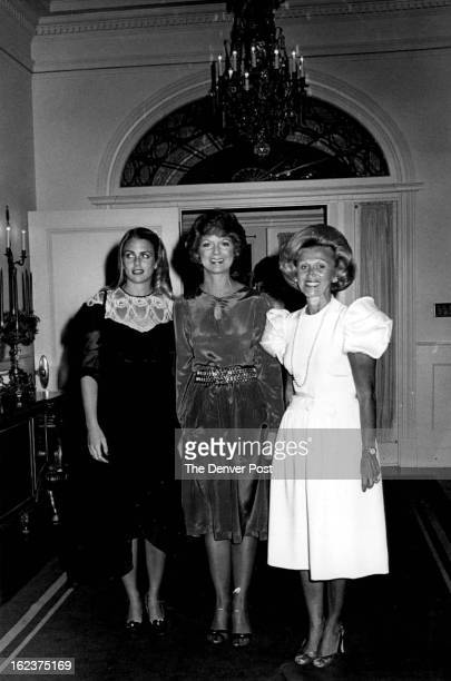 DEC 18 1981 DEC 22 1981 Headed to mansion party rooms are from left Mrs Nebil Zarif Mrs Dottie Lamm Mrs Marvin Davis