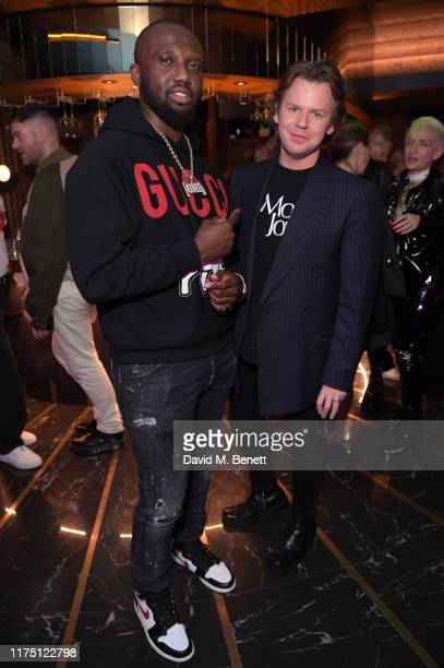 Headie One and Christopher Kane attends the Christopher Kane after party at The Court on September 16, 2019 in London, England.