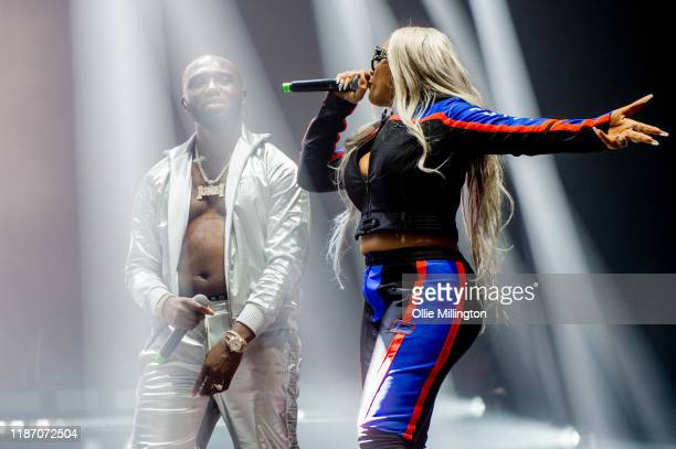 Headie One and Stefflon Don perform at O2 Academy Brixton on November 10, 2019 in London, England.