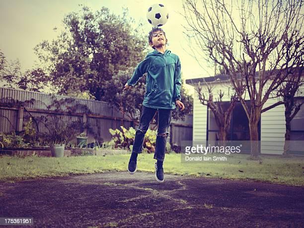 Heading football