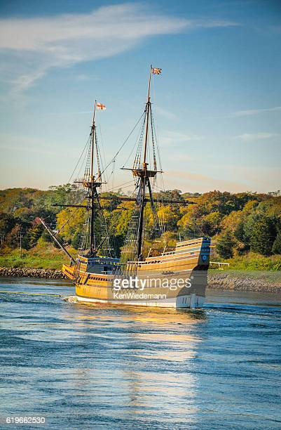 heading for winter drydock - the mayflower stock photos and pictures