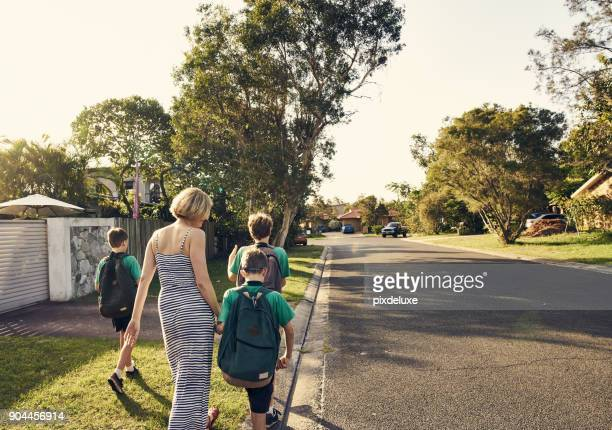 heading home after school - australia stock pictures, royalty-free photos & images