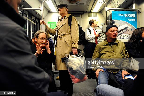 Heading home Denver Athletics Club CEO General Manager Andre van Hall rides the light rail to the Mineral station in Littleton CO Tuesday November 15...