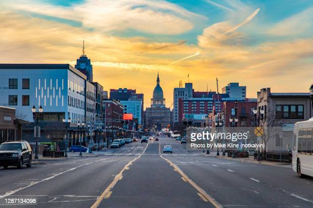 heading into lansing michigan - michigan stock pictures, royalty-free photos & images