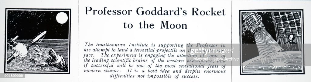 Heading of an article on Robert H. Goddard. : News Photo