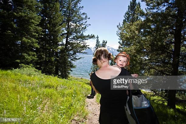 Heading to Go Swimming Jackson Lake Tetons.