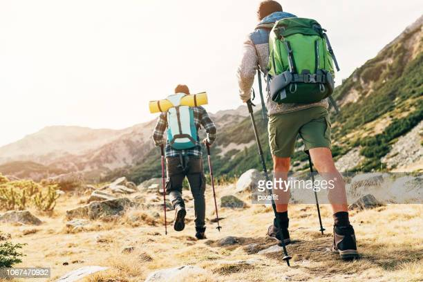 heading to the peak - hiking pole stock pictures, royalty-free photos & images
