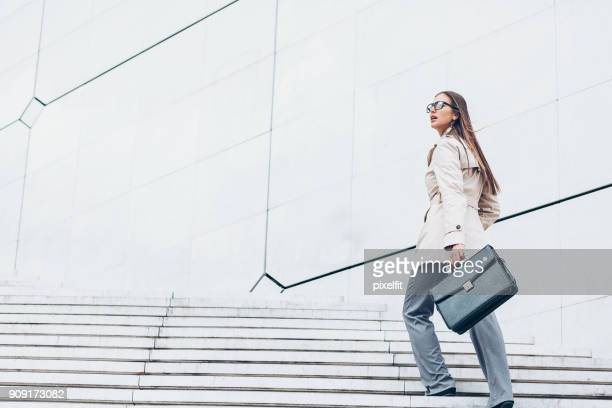 heading up for success - briefcase stock photos and pictures