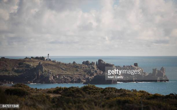 A headland close to Old Town is seen from the Garrison Walls on St Mary's on February 16 2017 on the Isles of Scilly in Cornwall England The...