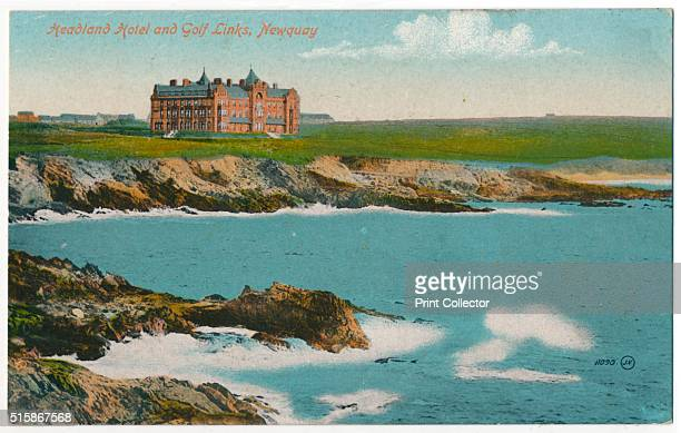 Headland Hotel and Golf Links Newquay' circa 1910 The Headland Hotel Newquay Cornwall opened in June 1900 The Headland Hotel was designed by the...