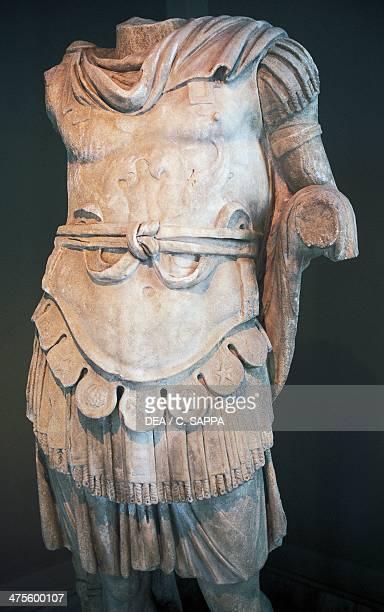 Headless marble statue of Nero Istanbul Archaeological Museum Turkey Roman civilisation 1st century AD Istanbul Arkeoloji Muzerleri